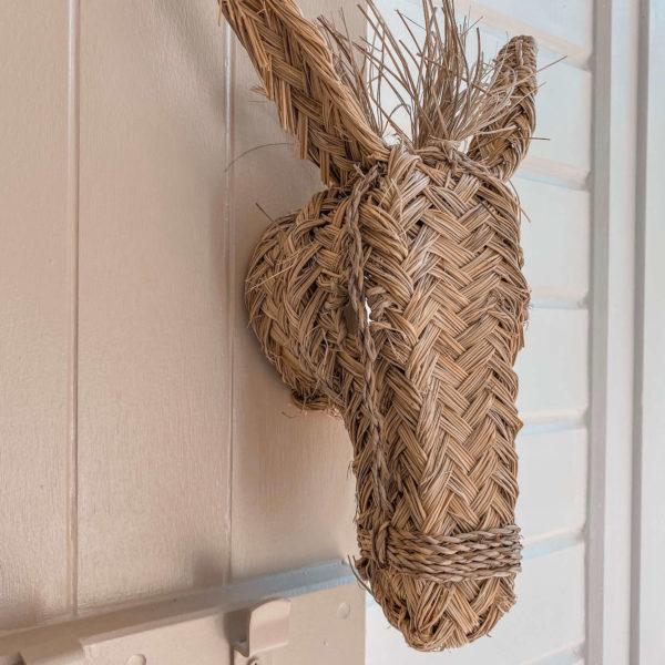 tête de poney décorative - Boutique de décoration chic Martinique Cénélia